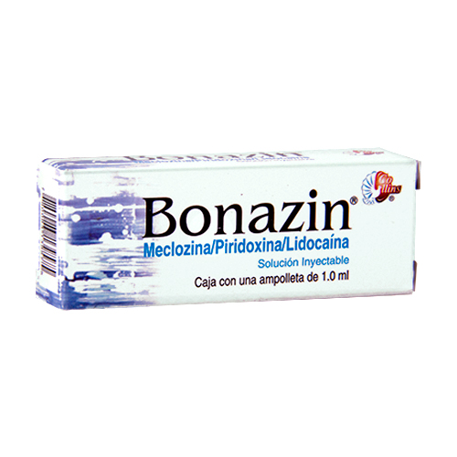 Comprar Meclizina/piridoxina/lido 1amp