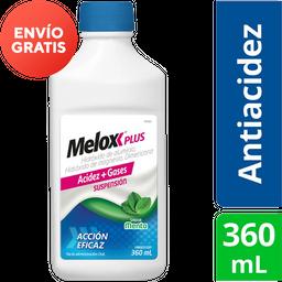 Melox Plus Menta 360 mL Suspensión Hidróxido de magnesio 4 g