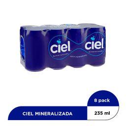 Agua Ciel Natural Mineralizada 8 Pack