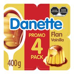 Flan Danette Sabor Vainilla 100 g x 4