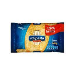 Pasta Italpasta Letras 18 g