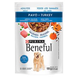 Beneful Alimento Húmedo - Adulto Pavo Y Arroz 100 g 6 Sobres