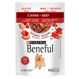 Beneful Alimento Húmedo - Adultos Carne Y Arroz Minis 100 g x 6