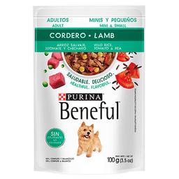 Beneful Alimento Húmedo- Adultos Cordero Y Arroz Minis 100 g x 6