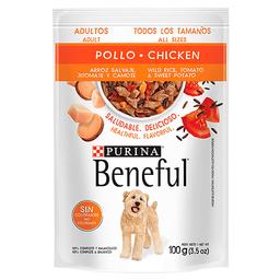 Beneful Alimento Húmedo - Adultos Pollo Y Arroz 100 g 6 Sobres