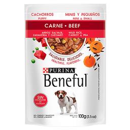 Beneful Alimento Húmedo - Cachorro Carne Y Arroz Minis 100 g x 6