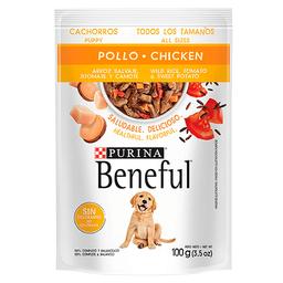 Beneful Alimendo Húmedo- Cachorros Pollo Y Arroz 100 g 6 Sobres