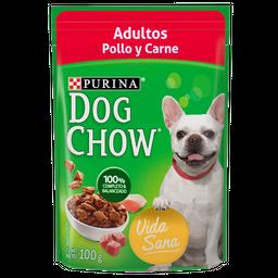 Dog Chow Alimento Húmedo - Adulto Pollo Y Carne 100 g 6 Sobres