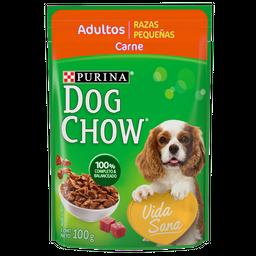 Dog Chow Alimento Húmedo - Adulto Raza Pequeña Carne 100 g x 6