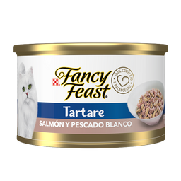 Alimento Húmedo Fancy Feast Tartare Salmón y Pescado Blanco 85 g