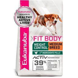 Croquetas Eukanuba Fit Body Weight Control Medium Breed 13.61 Kg