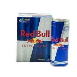 4 Und. Bebida Energizante Red Bull 250 mL