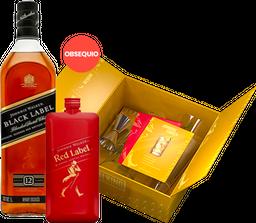5 Und Pack Whisky Johnnie Walker Black + Red Pocket + Kit de Bar