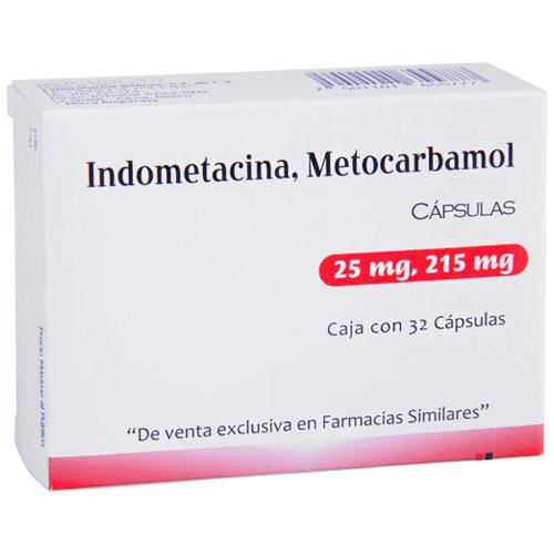 Comprar Metocarbamol/indome 215mg/ 25 Mg