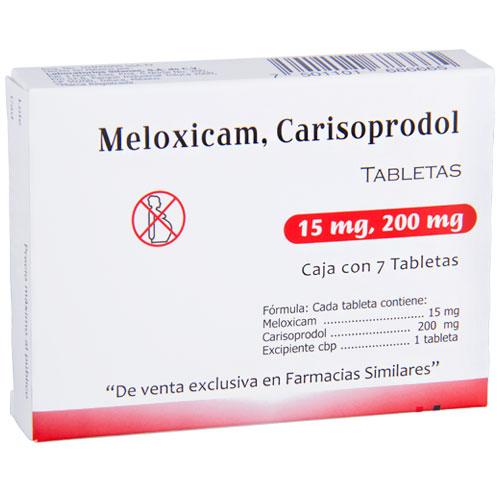 Comprar Carisoprodol/meloxi 200mg/ 15 Mg