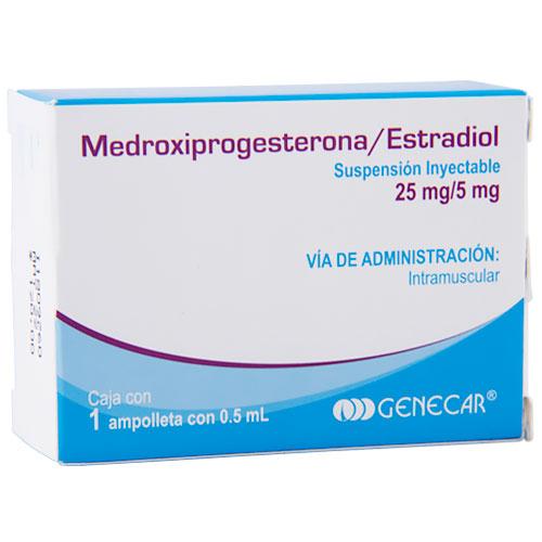 Comprar Genecar Medroxiprogesterona y Estradiol Sin Jeringa