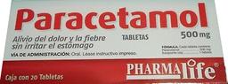 Paracetamol Pharmalife Tabletas (500Mg)
