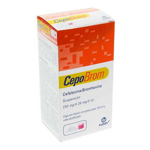 Comprar Cepobrom Maver Cefalexina 250 Mg Bromhexina 4.39 Mg