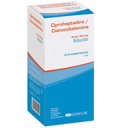 Comprar Ciproheptadina y Cianocobalamina Solución