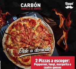 2 Pizzas + 1 botella