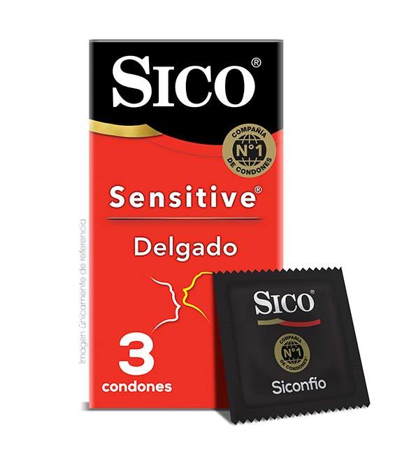Sico Sensitive Delgado Condones Lubricados