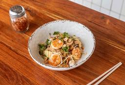 Medio Pad Thai de Camarones