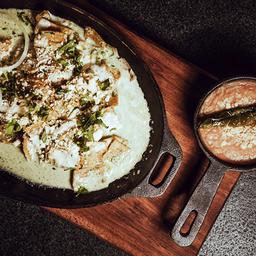 Chilaquiles en Salsa de Cilantro