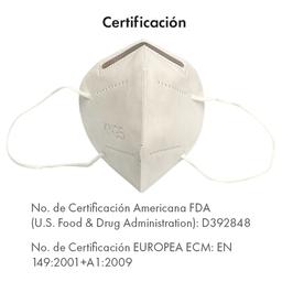 5 x Cubrebocas KN95