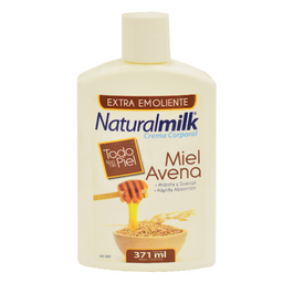 Crema Natural Milk Avena y Miel 371 mL