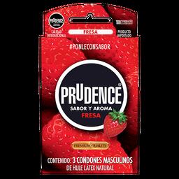 Prudence Preservativos Aroma y Color Fresa