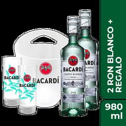 Rappicombo Bacardi Hielera + 2 Vasos