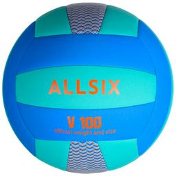 Allsix Balón de Voleibol V100 Azul y Verde