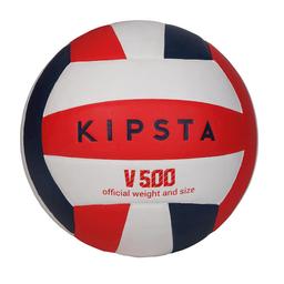 Allsix Balón de Voleibol V500 Blanco Azul y Rojo
