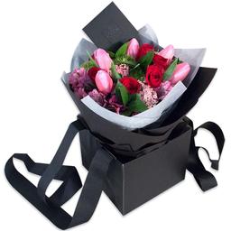 Ponch & Caprico Bouquet Tulipanes y Rosas Rojas
