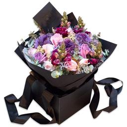 Ponch & Caprico Bouquet Mix Lila y Rosa Con Rosas