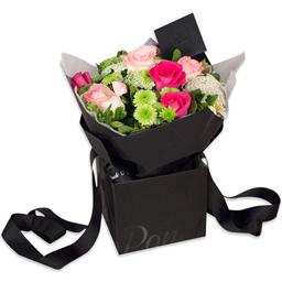 Ponch & Caprico Bouquet Rosas y Rosas -Rosadas y Fuchsia