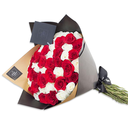 Ponch & Caprico Ramillete Rosas Blancas/Rojas