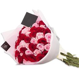 Ponch & Caprico Ramillete Rosas Rojas/Rosadas