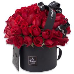 Ponch & Caprico Arreglo Domo de Rosas Rojas en Caja