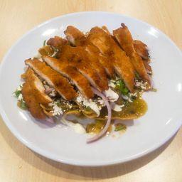 Chilaquiles Verdes Con Pechuga de Pollo