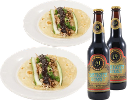 2 Tacos Kim + 2 Cervezas Dakota