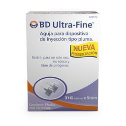 BD Ultra-Fine Aguja Para Insulina 31 g 5 mm