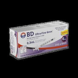 BD Ultra-Fine Jeringa Para Insulina 0.3 mL 31 g 6 mm