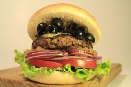 Burger Black Olives