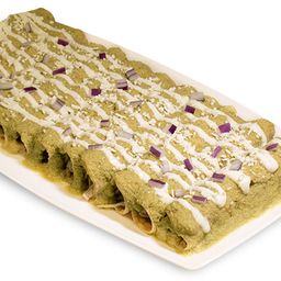 Enchiladas de mole verde  (12 pzas)