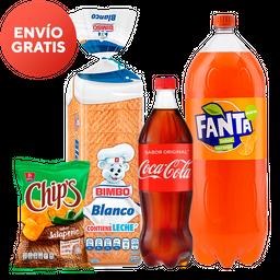 Rappicombo Fanta + Coca Cola + Pan Bimbo + Chips Jalapeño