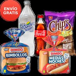 Rappicombo CC+ Sprite s/azúcar + bimbollos +Noches + chips fuego
