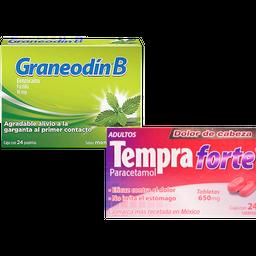 Rappicombo Graneodín B menta eucalipto + Tempra Forte adultos