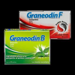 Rappicombo Graneodín F miel 16 Tab + Graneodín B menta 24 Tab