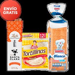 Rappicombo leche santa clara + pan blanco + tía rosa